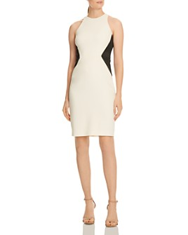 HALSTON - Color-Block Sheath Dress