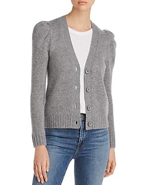 Puff-Sleeve Cashmere Cardigan