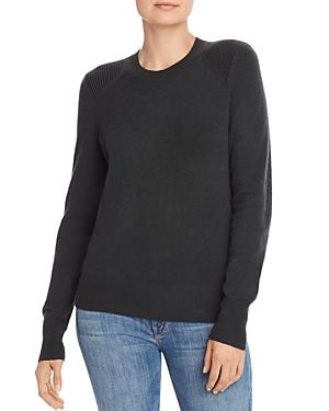 Aqua Cashmere Ribbed-Shoulder Cashmere Sweater - 100% Exclusive