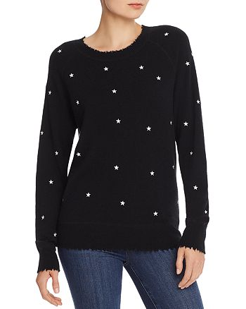 AQUA - Embroidered Star Cashmere Sweater - 100% Exclusive