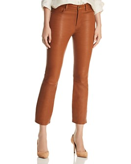 FRAME - Le Crop Mini Boot Leather Jeans