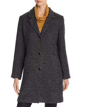 Eileen Fisher - Houndstooth Mid-Length Coat