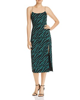 Bec & Bridge - Classic Zebra-Print Midi Dress