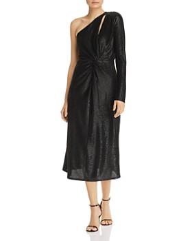 ccc3d2e0535d Michelle Mason - One-Sleeve Shimmer Midi Dress ...