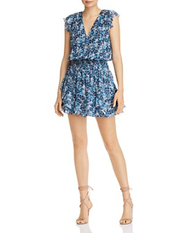 Ramy Brook - Simone Floral-Print Silk Mini Dress