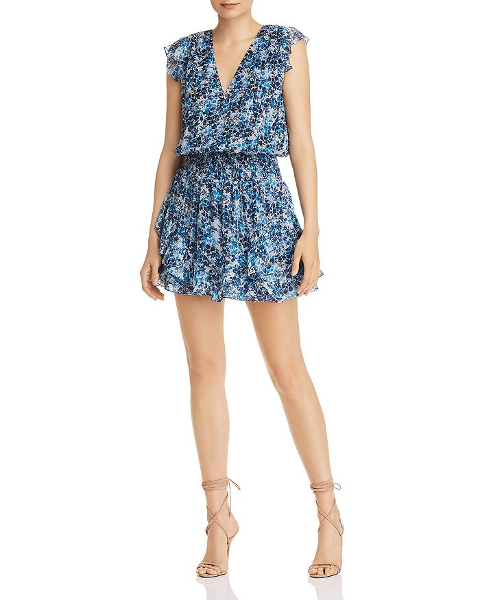 Ramy Brook - Simone Floral-Print Silk Mini Dress