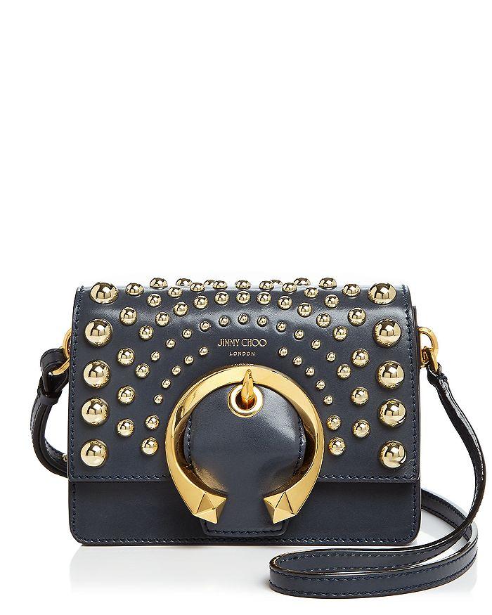 Jimmy Choo - Madeline Small Studded Leather Shoulder Bag