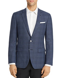 BOSS - Hutsons Large Plaid Slim Fit Sport Coat
