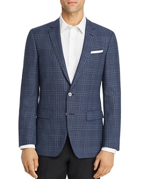 BOSS - Hutsons Large Plaid Slim Fit Sportcoat