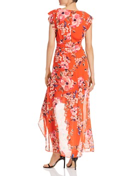 Eliza J - High-Low Floral Surplice Dress
