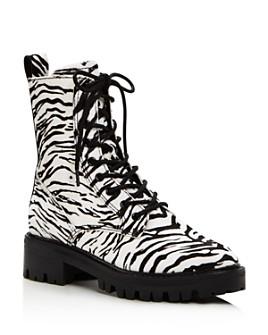 Dolce Vita - Women's Gregor Zebra-Print Hiker Boots - 100% Exclusive