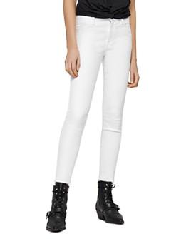 ALLSAINTS - Grace Ankle-Length Frayed Jeans