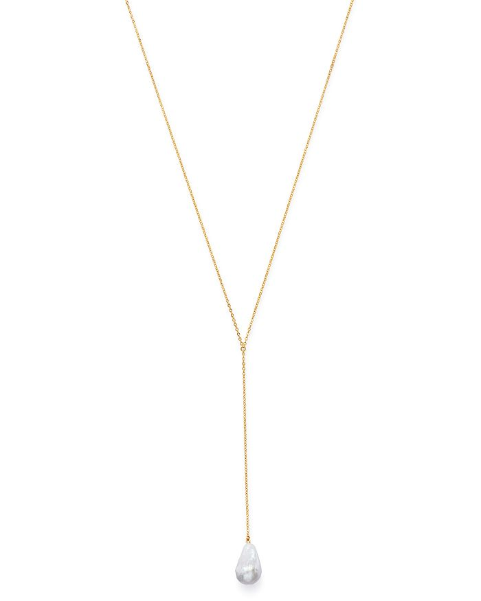 """Bloomingdale's - Baroque Pearl Y Necklace in 14K Yellow Gold, 26"""" - 100% Exclusive"""