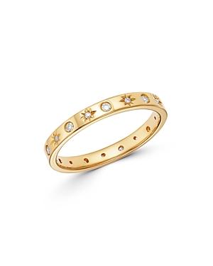 Zoe Lev 14K Yellow Gold Diamond Sunburst Ring