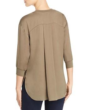 Kenneth Cole - V-Neck High/Low Sweatshirt