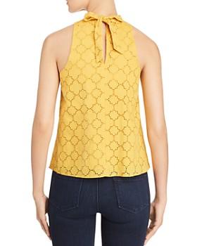 1.STATE - High-Neck Crochet Top