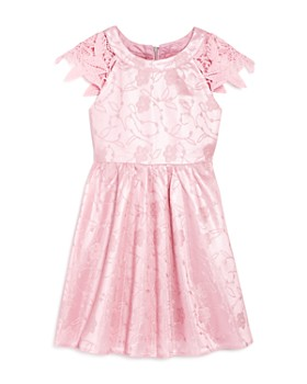 US Angels -  Girls' Floral Lace Dress - Little Kid