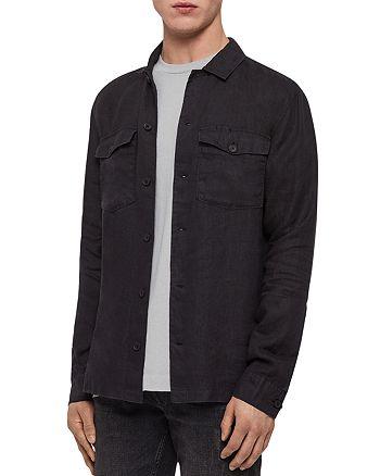 ALLSAINTS - Penrose Linen Slim Fit Shirt