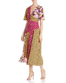 kate spade new york - Swing Mixed-Print Dress