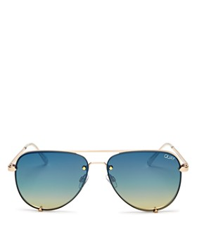 Quay - Women's High Key Mini Rimless Aviator Sunglasses, 53mm