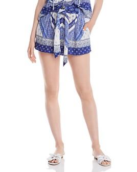 AQUA - Mixed-Paisley Print Shorts - 100% Exclusive