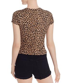 AQUA - Leopard-Print Ribbed Tee - 100% Exclusive