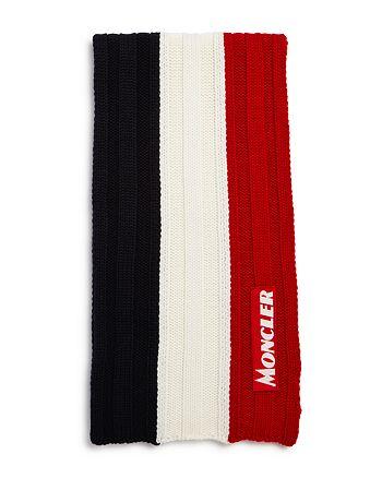 Moncler - New-Logo Striped Rib-Knit Scarf