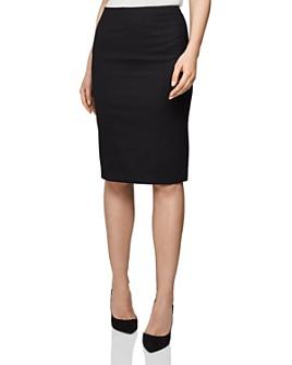 REISS - Hartley Textured Skirt