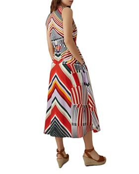 KAREN MILLEN - Directional-Stripe Shirt Dress