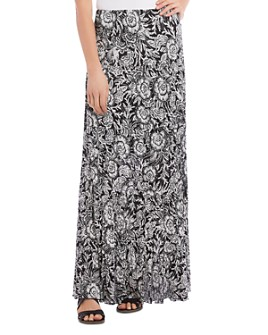 Karen Kane - Tiered Floral-Print Maxi Skirt
