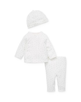 Little Me - Unisex Spotted Top, Pants & Cap Set - Baby