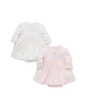 Little Me - Girls' Puppy Bodysuit-Dresses, 2 Pack - Baby