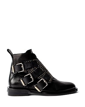 Zadig & Voltaire - Women's Laureen Studded Leather Ankle Booties