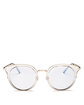 Quay - Unisex Cryptic Round Blue Light Glasses, 54mm