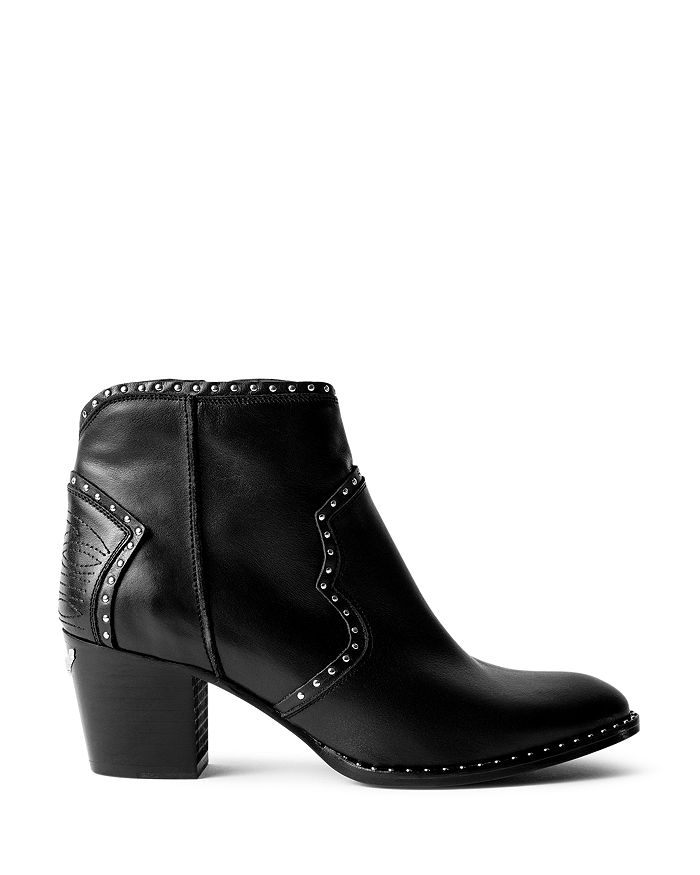 Zadig & Voltaire - Women's Molly Studded Western Ankle Booties