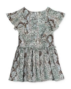 Pippa & Julie - Girls' Snakeskin Print Dress - Big Kid