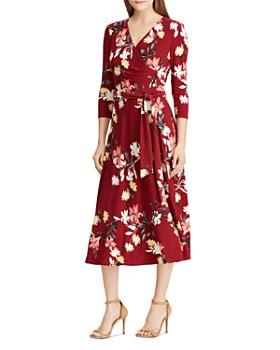 Ralph Lauren - Floral-Print Faux-Wrap Midi Dress