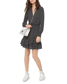 MICHAEL Michael Kors - Smocked Ruffled Dot-Print Dress