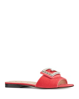 Gucci - Women's Madelyn Velvet Slide Sandals with Crystal G