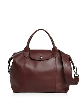 Longchamp - Le Pliage Medium Leather Shoulder Bag