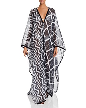 MAXHOSA BY LADUMA - Printed Chiffon Kaftan Dress