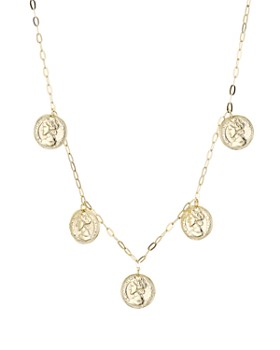 Argento Vivo - Multiple Medallion Necklace in 18K Gold-Plated Sterling Silver, 18""