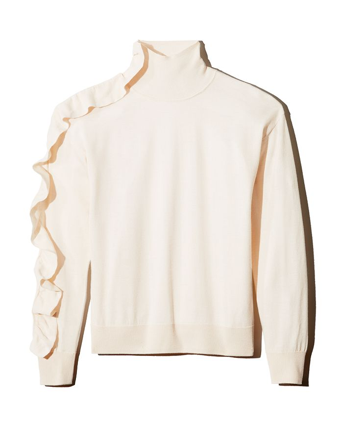 Sandro - Eleen Ruffle-Detail Wool Sweater - 100% Exclusive