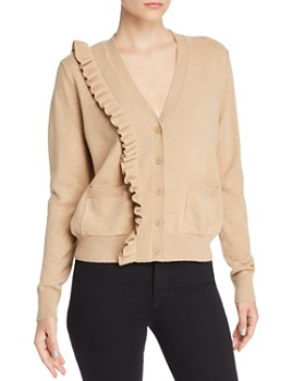 Sandro - Cameen Ruffled Wool & Cashmere Cardigan - 100% Exclusive
