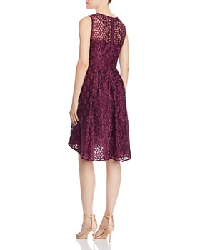 Adrianna Papell - Embroidered Fit-and-Flare Dress