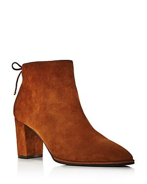Stuart Weitzman Boots WOMEN'S GARDINER BLOCK HEEL ANKLE BOOTIES