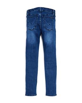 Hudson - Girls' Kit Glitter-Stripe Ankle Skinny Jeans, Big Kid - 100% Exclusive