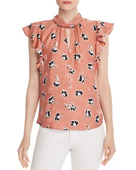 Rebecca Taylor - Paintbrush Floral Top