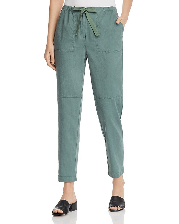 Eileen Fisher - Organic Cotton Tie-Waist Pants