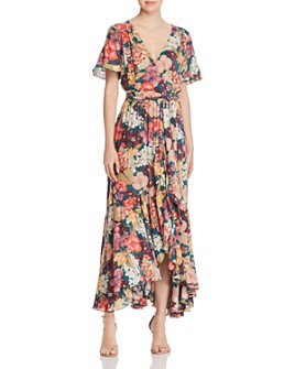 Johnny Was - Strass Wrap-Front Maxi Dress